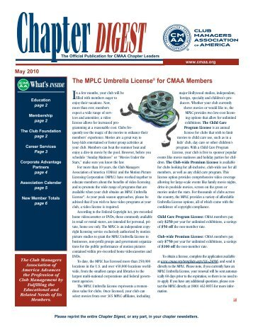 ® What'sINSIDE The MPLC Umbrella License® for CMAA Members