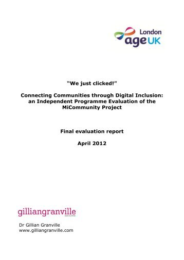 Connecting Communities through Digital Inclusion - Age UK
