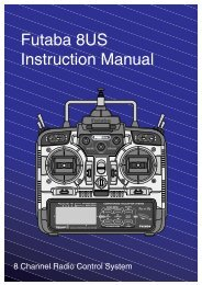 Futaba 8US Instruction Manual