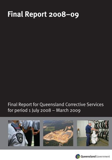 Final Report 2008-09 (QCS) - Department of Community Safety