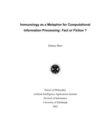 Immunology as a Metaphor for Computational ... - Napier University