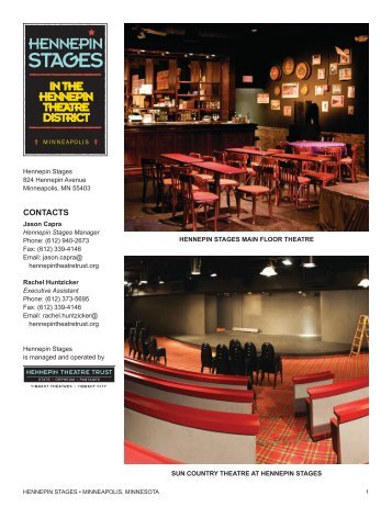 CONTACTS - Hennepin Theatre Trust
