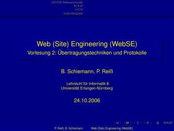 Web (Site) Engineering (WebSE) - Lehrstuhl für Informatik 8 ...
