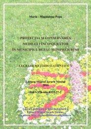 Protecţia şi conservarea mediului înconjurător în ... - Sala de Lectură