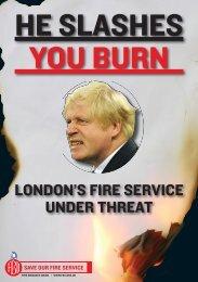 Leaflet: 'He slashes, you burn' - Fire Brigades Union London
