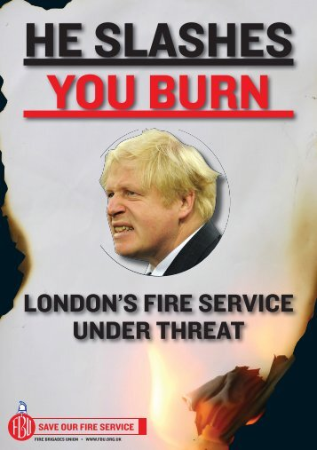 Leaflet: 'He slashes, you burn' - Fire Brigades Union London