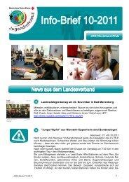 Info-Brief 10 - Jugendrotkreuz Rheinland-Pfalz