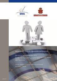 procesos civiles transfronterizos - Institutul Naţional al Magistraturii
