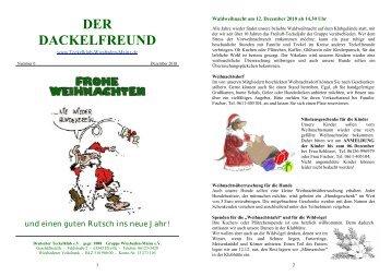 Der Dackelfreund - Nr. 6/2010 - Teckelklub Wiesbaden/ Mainz