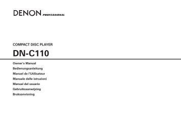 DN-C110 - D&M Professional Europe