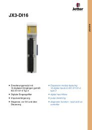 JX3-DI16 - Esco Drives & Automation