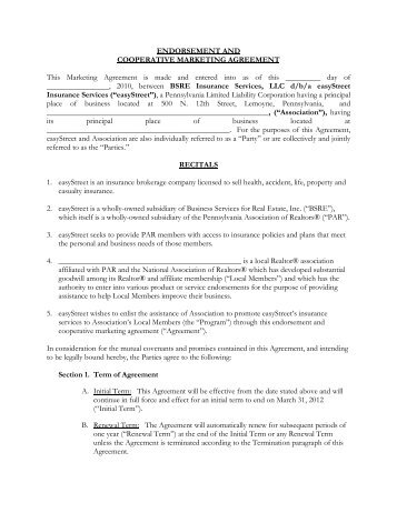 CauseRelated Marketing Proposal And Agreement  Fred