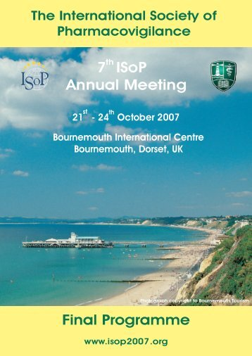 7th ISoP Annual Meeting Final Programme - ISoP : International ...