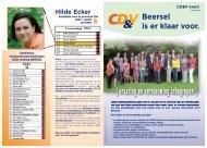 { ervaring en vernieuwing inbegrepen } - Afdeling Beersel - CD&V