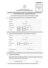 Borang Fail Peribadi - UiTM Johor