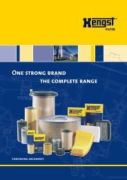 One strong brand the complete range - Hengst GmbH & Co. KG