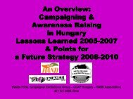 An Overview: Campaigning Campaigning & Awareness ... - Trialog