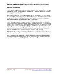 Phrasal Verb Dominoes: An activity for intransitive phrasal verbs