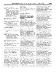 Federal Register/Vol. 64, No. 234/Tuesday, December 7, 1999/Notices