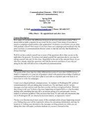 Political Communications - Graduate School of Political Management