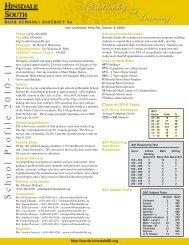 HS profile 2010-11 - Hinsdale South High School