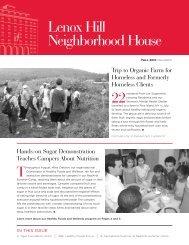 Did You Know… - Lenox Hill Neighborhood House