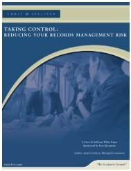 Taking Control - Reducing Your Records ... - Iron Mountain