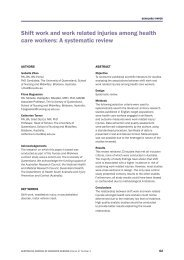 Shift work and work related injuries among health care workers: A ...