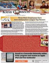 May 2013 - Klein Independent School District
