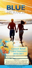 Consort Retail Travel Insurance 2010/2011 - Blue Insurances