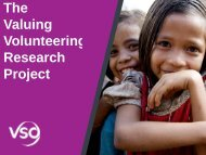 The Valuing Volunteering Research Project - Cuso International