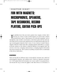 FUN WITH MAGNETS: MICROPHONES, SPEAKERS, TAPE ...