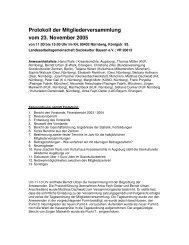 Protokoll der Mitgliederversammlung vom 23. November 2005