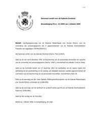 Machtigingsaanvraag van de Vlaamse Maatschappij voor Sociaal ...