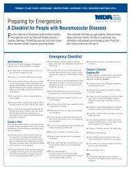 Preparing for Emergencies: A Checklist for People with NMD