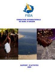 Rapport d'activité 2005 - Fondation Internationale du Banc d'Arguin