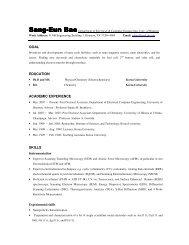 goal education academic experience skills - University of Houston