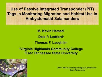 Use of Passive Integrated Transponder (PIT) Tags in Monitoring ...