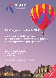 programma preliminare SIAIP - con ... - Biomedia online