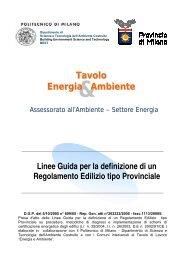 Energia Ambiente Tavolo - Facoltà di Architettura Luigi Vanvitelli