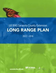 Long Range PLan - Sarasota County Extension - University of Florida