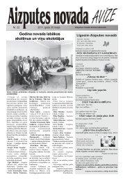 Godina novada labākos skolēnus un viņu skolotājus - Aizputes ...