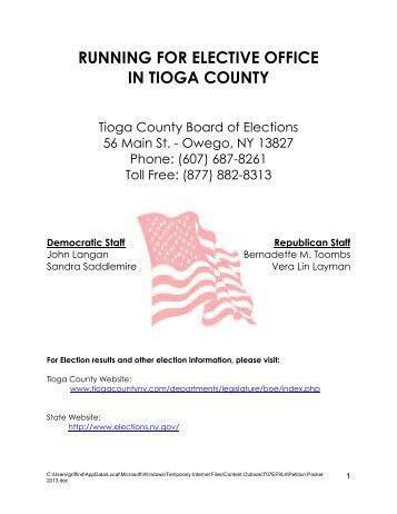 Petition Packet and Signature Requirements (PDF) - Tioga County