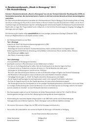 Ausschreibung Bundeswettbewerb Musik in Bewegung 2013 ... - Wels