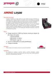description de produit Amino 12500 - Sponser