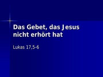 Lukas 17,5-6 - EFG Hemsbach