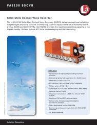 FA2100 Solid State Cockpit Voice Recorder - L-3 Aviation Recorders