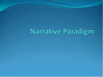 Narrative Paradigm