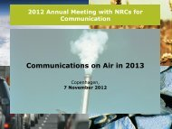 Communications on Air in 2013 - Eionet Forum - Europa