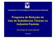 Programa de Redução do Uso de Substâncias Tóxicas na ... - ASEC